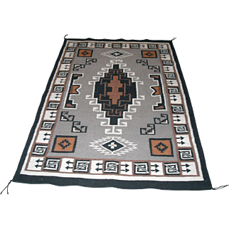 Navajo Style Large Pictorial Rug