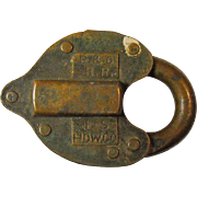 Baltimore & Ohio Brass Heart Shaped Lock & Key