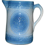 Beautiful Blue & White Eagle Stoneware Milk Pitcher - Red Tag Sale Item