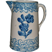 Wild Rose Blue & White Stoneware Pitcher - Red Tag Sale Item