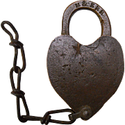 Morristown & Erie Brass Heart Shaped Lock