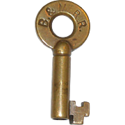 Boston & Maine Railroad Brass Key(Eastern Division)