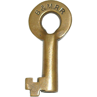 Boston & Maine Railroad Switch Key
