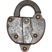 Boston & Maine Steel Clad Switch Lock