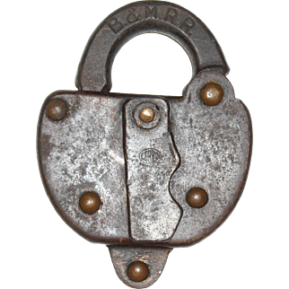 Boston & Maine Steel Clad Switch Lock