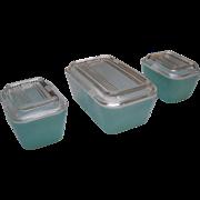 Pyrex Robins Egg Blue Refrigerator Dishes