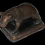 CM&STPRy Bronze Grizzly Bear Advertising Piece