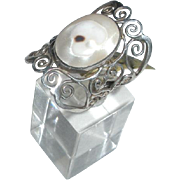 Vintage Sterling and Mother of Pearl Ring