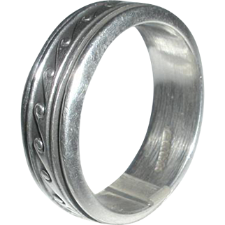 Men's Sterling Silver Ring Band