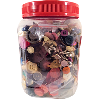 Large Jar of Mixed Buttons