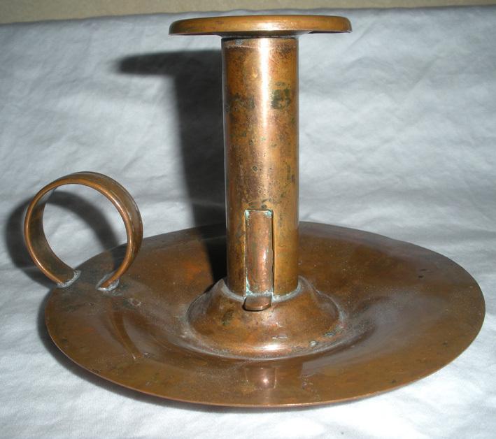 Vintage Venetian Copper Candle Holder With Finger Loop : O Nostalgia  Antiques   Ruby Lane