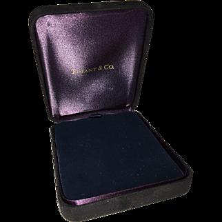 Black Suede TIFFANY Presentation Box