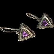 Sterling Silver and Amethyst Earrings