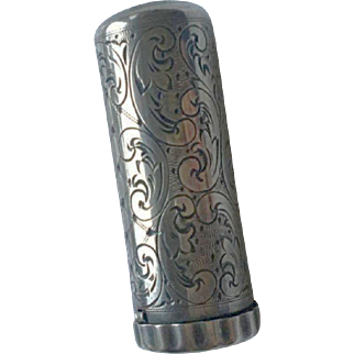 Sterling Silver Lipstick Holder
