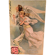 Satin Covered Easter Postcard  from Early 1900s