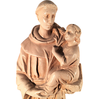 Vintage Plaster Statue of St. Anthony of Padua