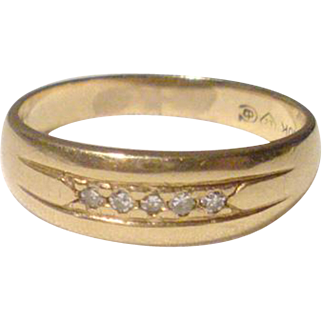 Antique Gold and Diamond Ring Band