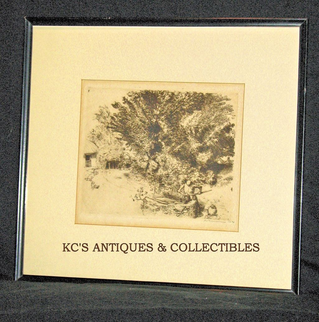 Au Puits Etching & Dry Point by Auguste Lepere; Signed, numbered 2/5; Second State