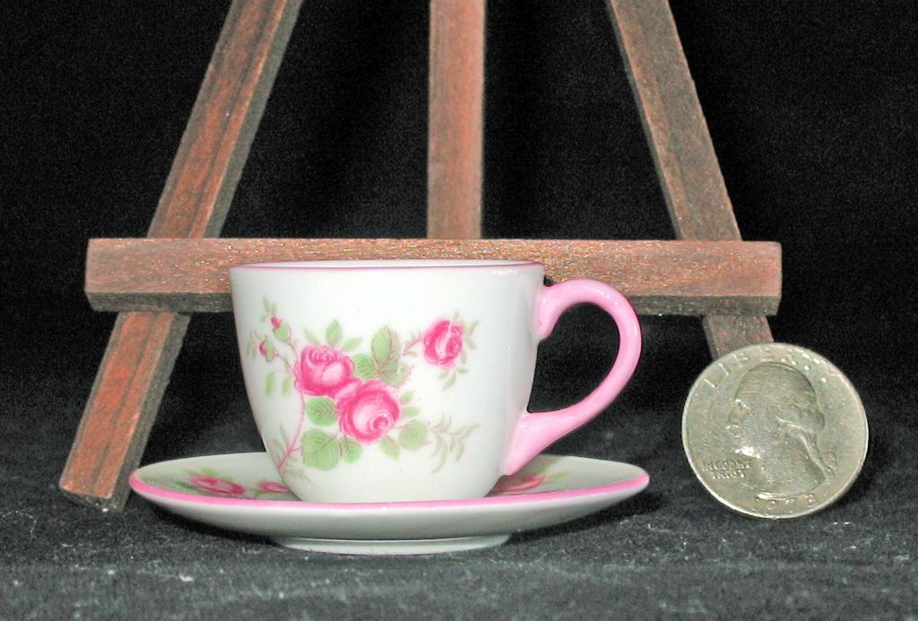 Miniature Shelley Potteries Bridal Rose Cup & Saucer