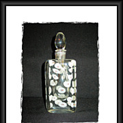 Heavy Italian Art Glass Scent Bottle White Coral Shells Encased
