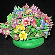 Crown Staffordshire HUGE Bouquet of Gorgeous Porcelain Flowers