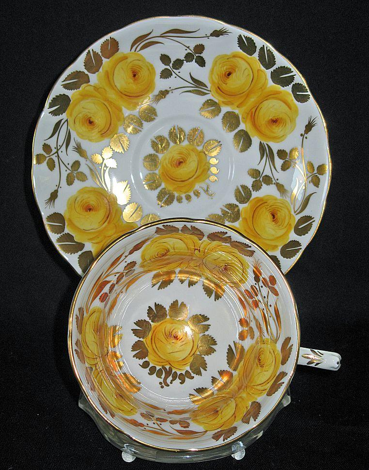 "Grosvenor China ""Tea Rose"" A533  Yellow Roses"
