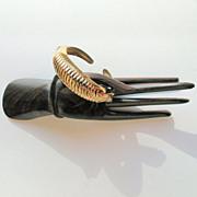 Vintage Coro Double Hinged Gold Tone Bracelet