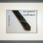 Skinny Tie by Wembley with diagonal stripes, from around the 1960's