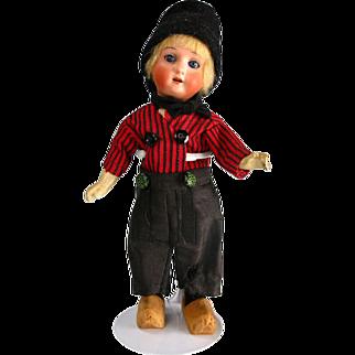 "8"" Antique Bisque Boy Doll Dutch Boy Heubach Kopplesdorf 250"