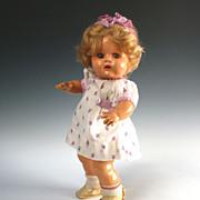 """Vintage 1939 Ideal 13"""" Doll I-De-Lite Idenite Hard Rubber Blonde Wig"""