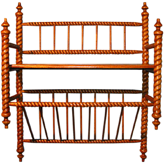 Antique Hanging Shelf Barley Twist Golden Oak Magazine