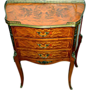 French Side Table Marquetry Ormolu Early 20th Century