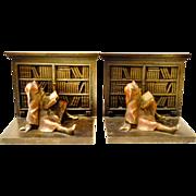 Bradley Hubbard  Gnome Library Bookends Iron Cast