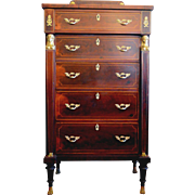 French Empire Chest of Drawers Bronze Egyptian Mounts