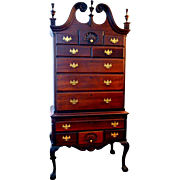 Antique Chippendale Highboy Solid Mahogany Circa 1880