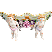 Sitzendorf Voigt Brothers Centerpiece with Cherubs, Flowers and Bows