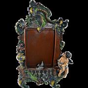 Victorian Ornate Small Picture Frame Cherub/Putti