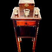 1920's Smoking Stand & Humidor Mahogany
