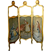 Antique French Three Panel Screen