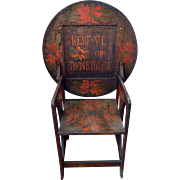 Antique Hutch Table Tavern Chair