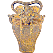 Art Nouveau Cast Iron Figural Paper Clip Holder