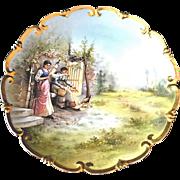 """Austria Porcelain Charger Farm Scene 12 ½"""""""