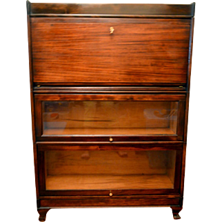 Barrister Bookcase with Desk Mahogany