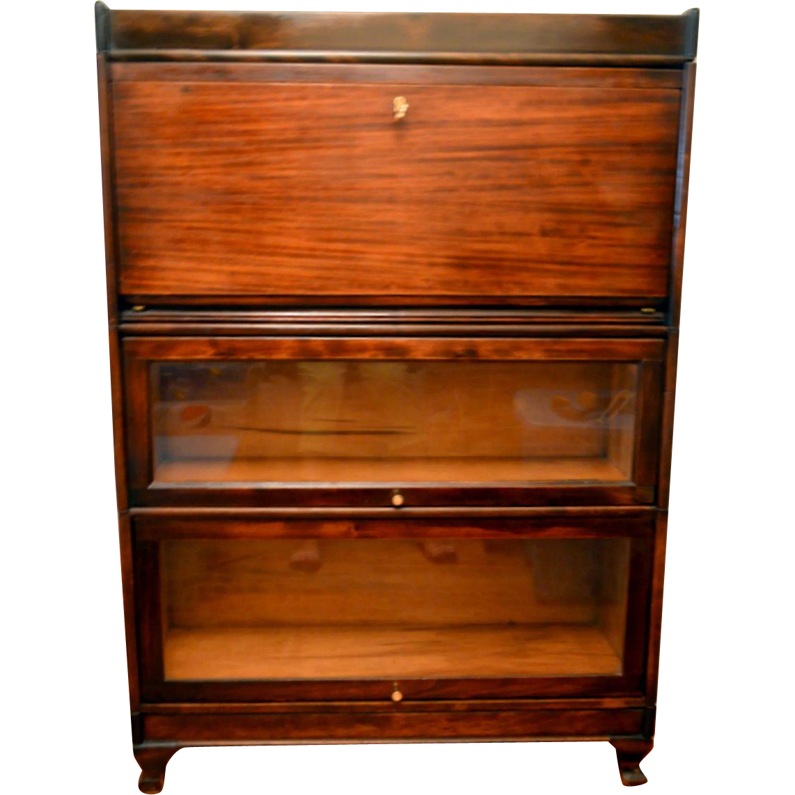 Barrister Bookcase With Desk Mahogany From Front Porch On