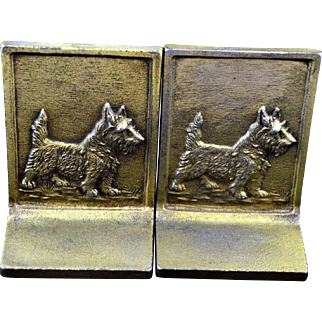 Bookends Bradley & Hubbard Cast Iron Scottish Terrier Dog
