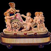 Boudoir Lamp Cherubs Pulling Venus in Chariot