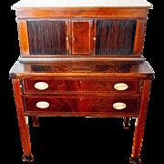 Tambour Desk Flame Mahogany Hepplewhite Style Centennial