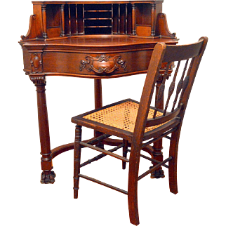 Antique Corner Desk Mahogany