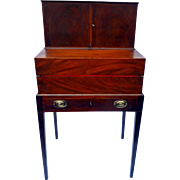 Antique Mahogany Hepplewhite Campaign Desk Circa 1830