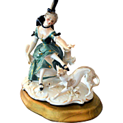 Dresden Germany Lamp Porcelain Figural